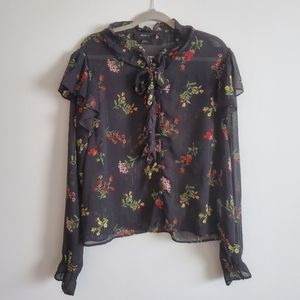 Forever 21 | 3X | Floral Sheer Blouse
